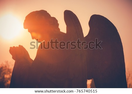 guardian angel - vintage style photo Royalty-Free Stock Photo #765740515