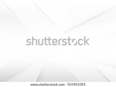 Abstract white and grey color lines background. Pattern geometric style. Space for text. Texture with light and shadow. Digital technology wallpaper used in the corporate. Vector illustration. Royalty-Free Stock Photo #765901093