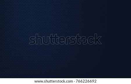 Dark blue carbon background with hexagons Royalty-Free Stock Photo #766226692