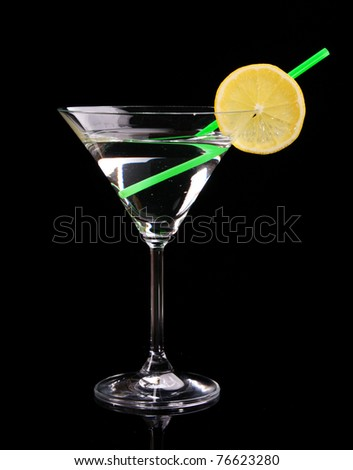 Martini glass on black background #76623280
