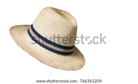 Bamboo hat, white background #766363204