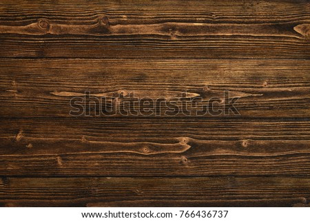 Dark brown wood texture with natural striped pattern for background, wooden surface for add text or design decoration art work Royalty-Free Stock Photo #766436737
