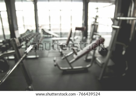 Abstract blur Gym background #766439524