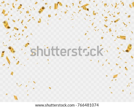 Abstract background party celebration gold confetti. Royalty-Free Stock Photo #766481074