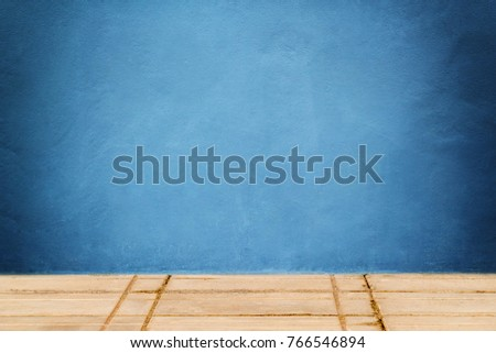 Blue Concrete wall texture backdrop