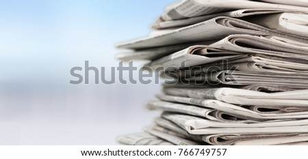 Newspaper, journalist, backgrounds. Royalty-Free Stock Photo #766749757