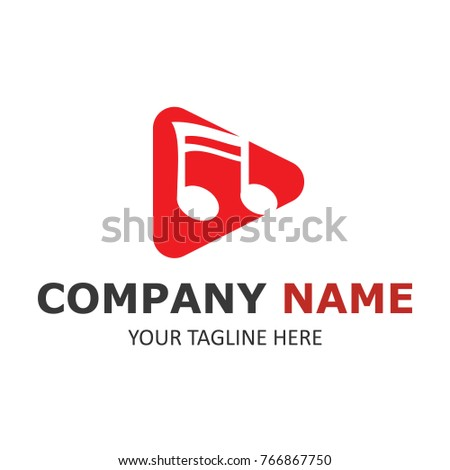 Music logo template simple design vector illustration #766867750