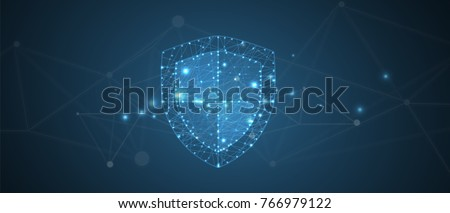 Cyber security and information or network protection. Future technology web services for business and internet project Royalty-Free Stock Photo #766979122