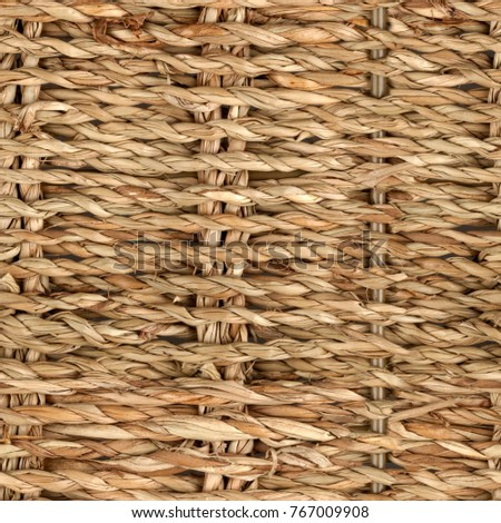 wicker or rattan basket texture.High-resolution seamless texture