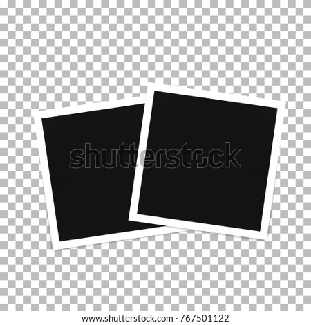 Photo frame template on a transparent background #767501122