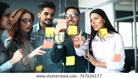Business people conference in modern office #767626177