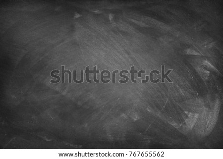 Chalk rubbed out on blackboard background #767655562