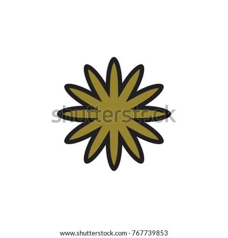 golden flower logo #767739853