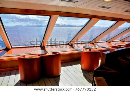Photo Picture Interior of a cruise boat in the Canary islands