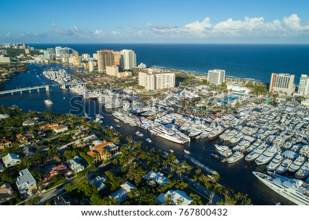 Aerial image of the Fort Lauderdale International Boat Show #767800432