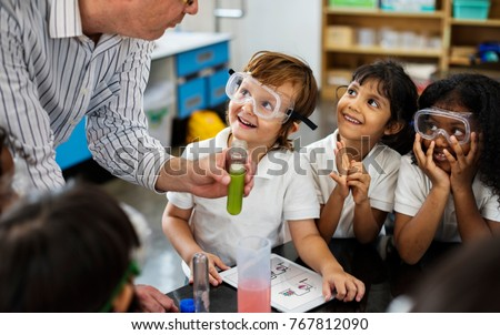 Happy kids at elementary school #767812090