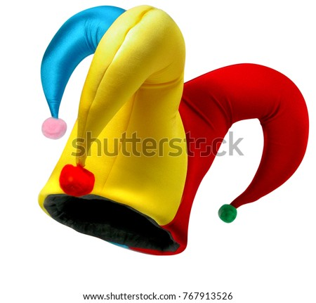 Jester hat isolated   #767913526