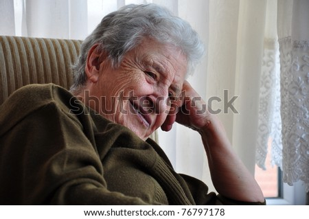 portrait of a senior woman #76797178