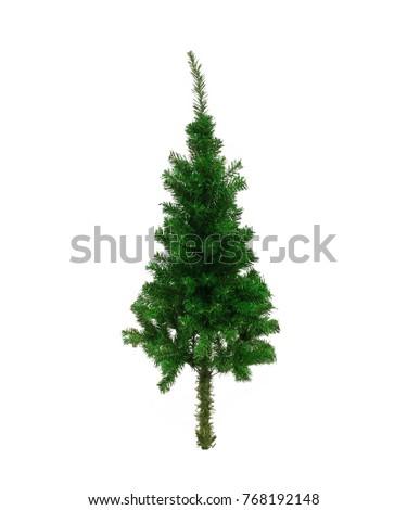 isolated christmas tree on white background #768192148