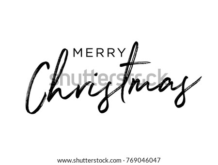 Merry Christmas, Christmas Holiday Celebration Greeting Card, Holiday Day, Festive Vector Text Background Royalty-Free Stock Photo #769046047