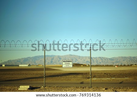 Warning Restricted Area Royalty-Free Stock Photo #769314136