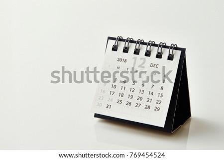 2018 December calendar Royalty-Free Stock Photo #769454524
