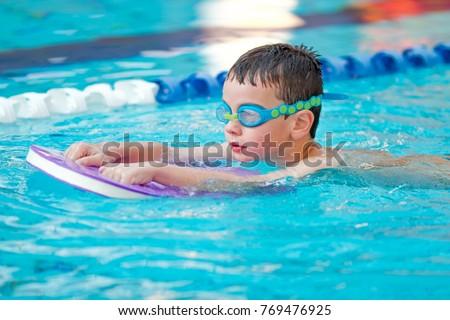 Boy Practice Swimming