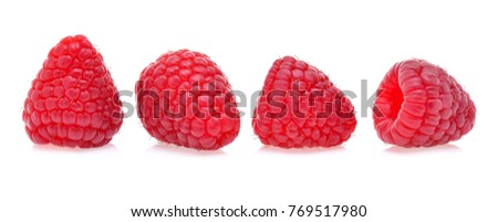 raspberry isolated on a white background #769517980