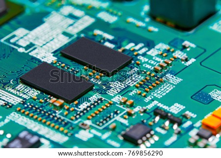 Electronic circuit board close up. #769856290