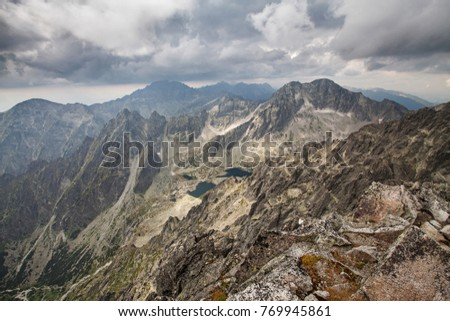 Photo of beautiful lakes in High Tatra Mountains, Slovakia, Europe #769945861