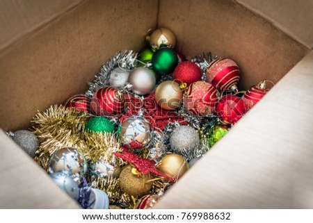Christmas decorations in a box #769988632