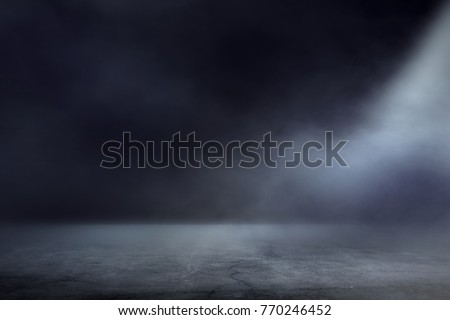 Texture dark concentrate floor with mist or fog Royalty-Free Stock Photo #770246452