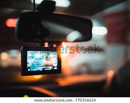 Car Camera DVR Dash Cam Royalty-Free Stock Photo #770356624