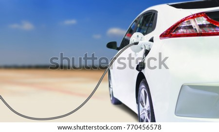 Charging an electric car in residential garage, Future of transportation #770456578