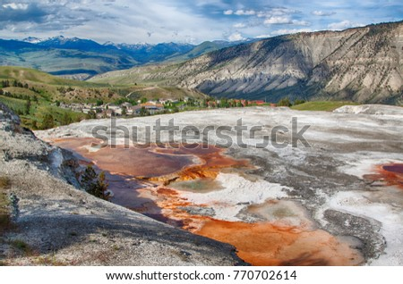 Beautiful views in Yellowstone National Park, Wyoming #770702614