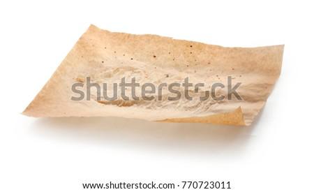 Sheet of baking paper after baking #770723011
