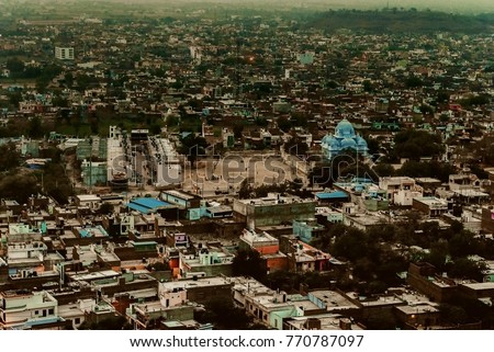 Early morning overview of Gwalior-A Indian Town #770787097