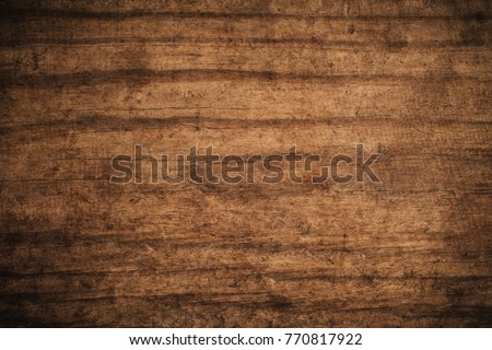 Old grunge dark textured wooden background,The surface of the old brown wood texture,top view brown wood paneling #770817922
