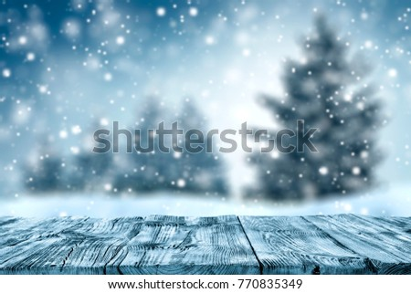 Table background and winter time  #770835349