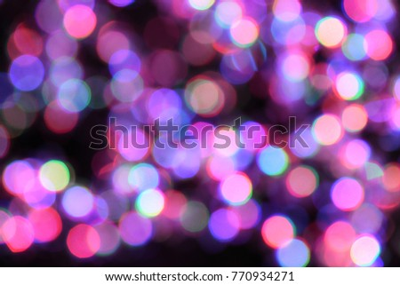 Background of Colorful Blinks Bokeh #770934271