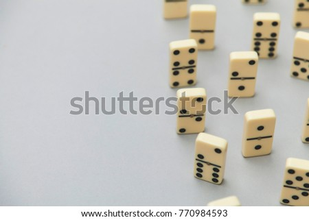 Domino background. Business strategy concept #770984593