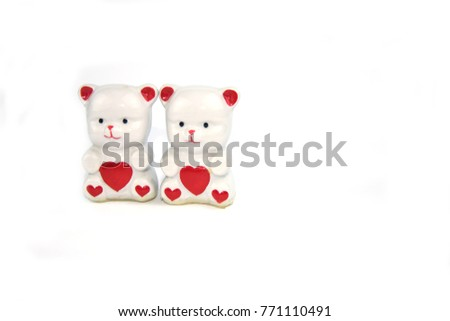 figurines porcelain bears with hearts #771110491