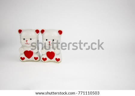 figurines porcelain bears with hearts #771110503