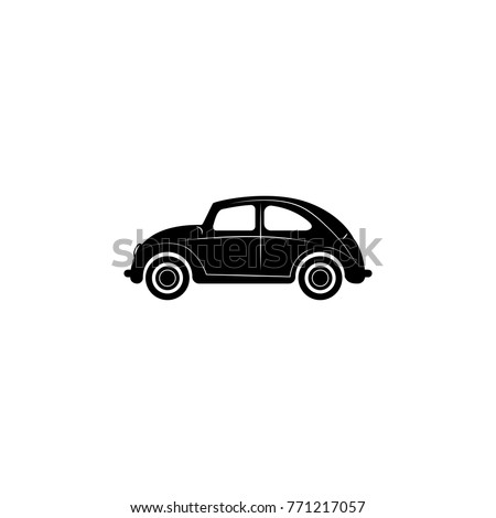 Car icon. Mini small urban city vehicle icon on white background
