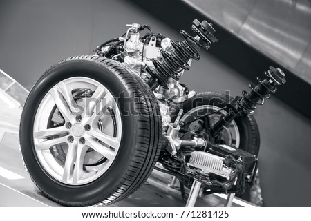 suspension system of the car #771281425