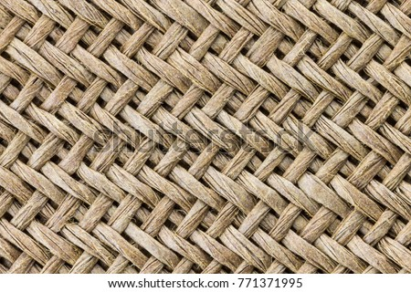 Weaving texture or weaving pattern background in macro style. Weaving texture classic retro background for design. #771371995