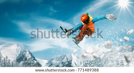 Snowboarding Snowboard Snowboarder  Royalty-Free Stock Photo #771489388