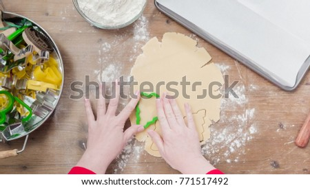 Step by step. Holiday season baking. Baking sugar cookies for Christmas. #771517492