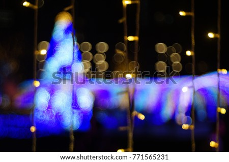 bokeh light at night #771565231
