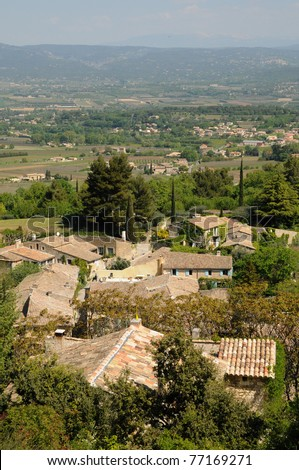 France, the village of Oppede in Provence #77169271